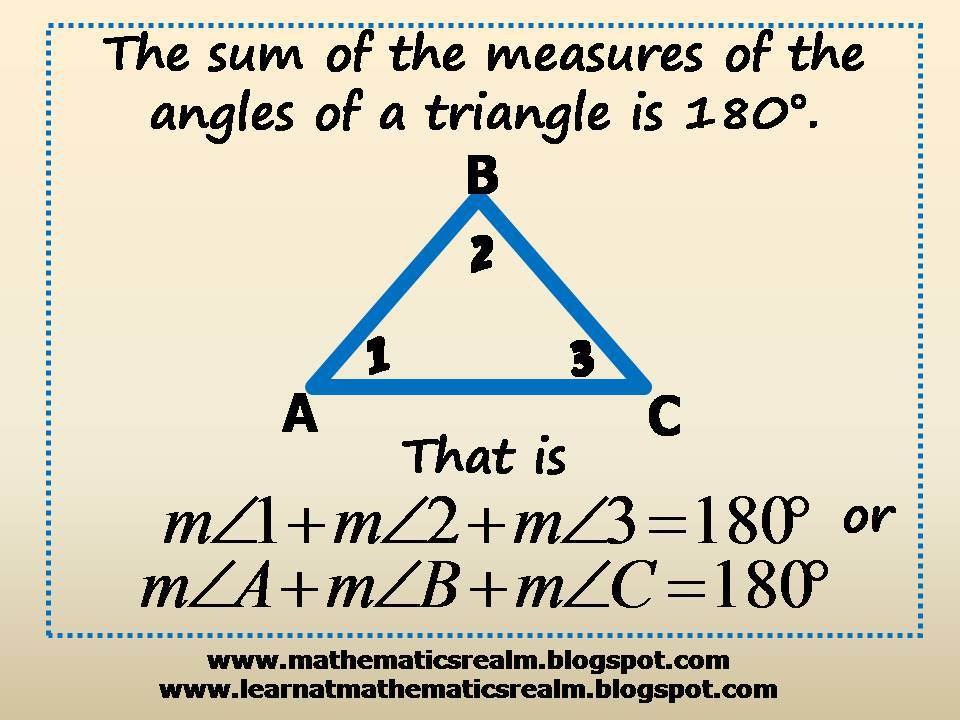 mathematics,geometry,angles,triangles,sum of angles,IGCSE