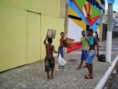 salvador da bahia street mischa vetere armin bollinger FIFA boycott wc 2014 brazil