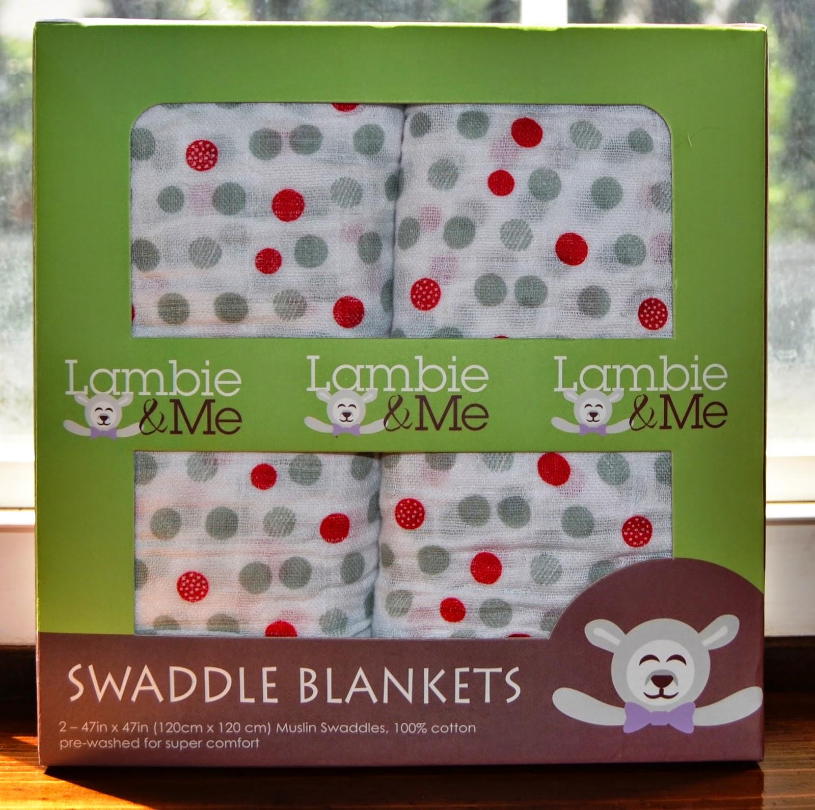 Lambie & Me Organic Swaddle Blankets