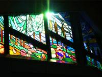 教会のステンドグラスの窓 | ジューンブライド結婚式のイラスト・画像素材