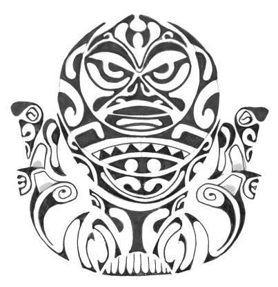 Dieu des antipodes Motif-tatouage-polyn-sien