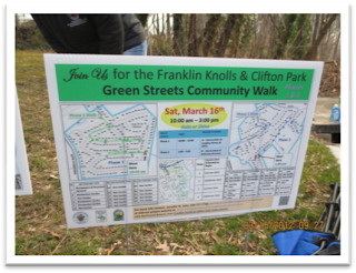 Event sign for Green Streets Community Walk