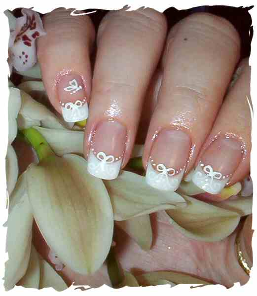 Beautiful White Wedding Nails Designs Ideas