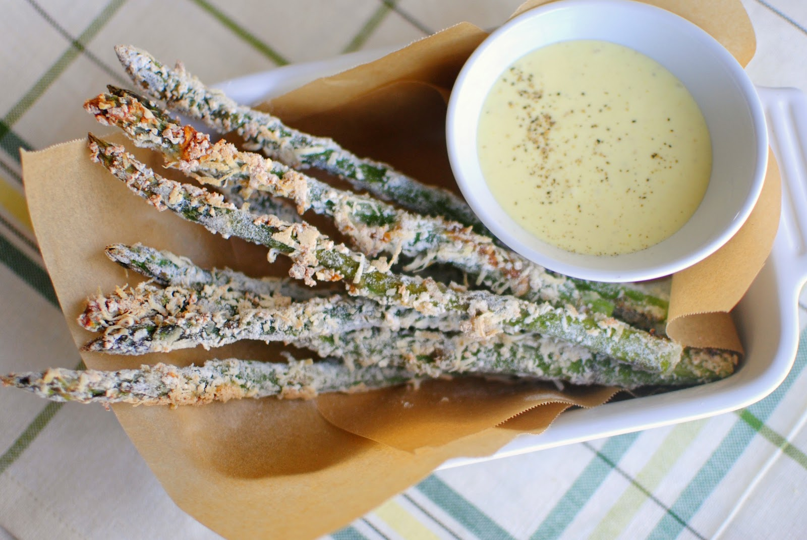 "Simply Scratch Baked Parmesan Asparagus & ""Fries"" with Lemon-Ga..."