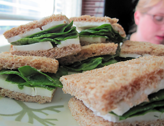 goat cheese brie and nasturtium vinegar tea sandwiches - ponyboy press