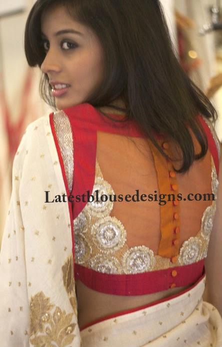 anjali sharma blouse deisgns