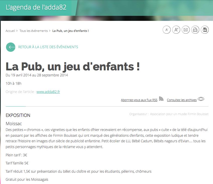 http://www.adda82.fr/nc/tous-les-evenements/detail-dun-evenement/article/la-pub-un-jeu-denfants/retour/117/mois/5/annee/2014.html