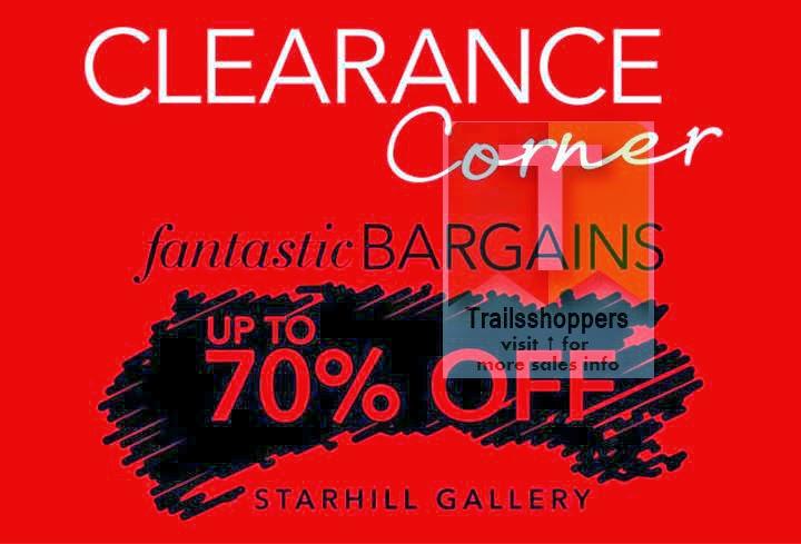 Debenhams Malaysia Starhill Gallery Clearance Sale