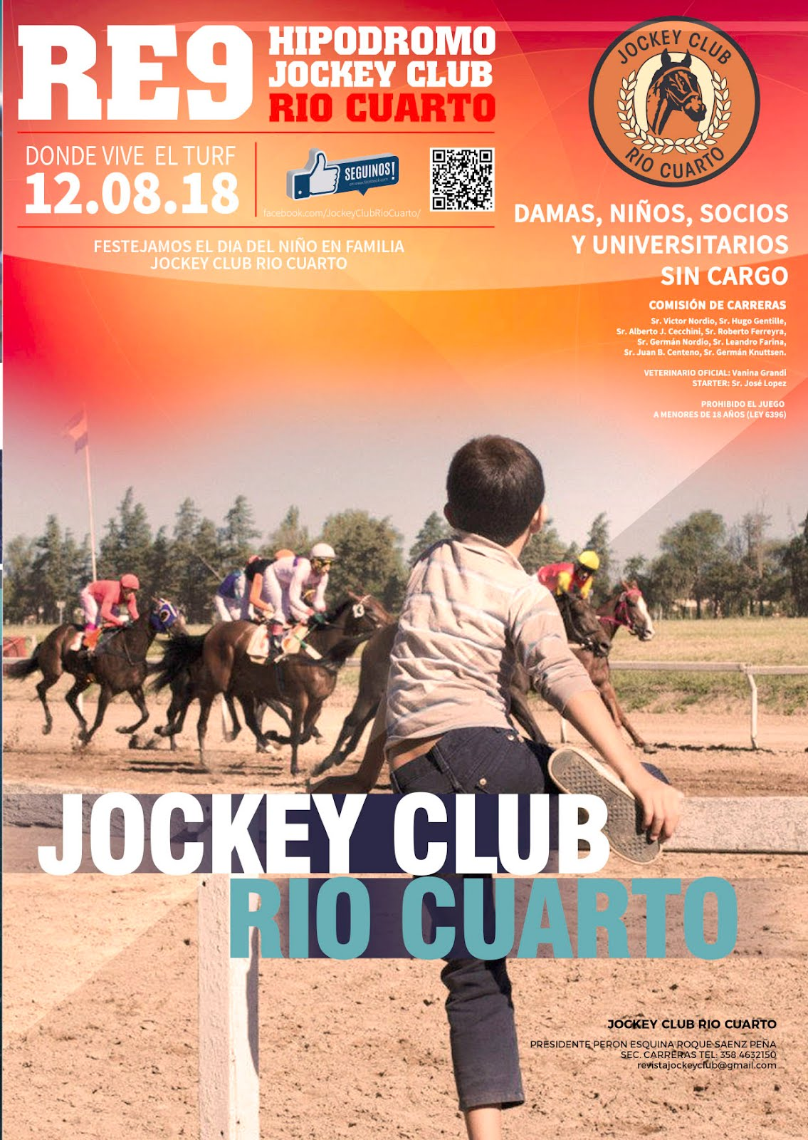 Programa de Carreras 12 de Agosto - Jockey Club Río Cuarto