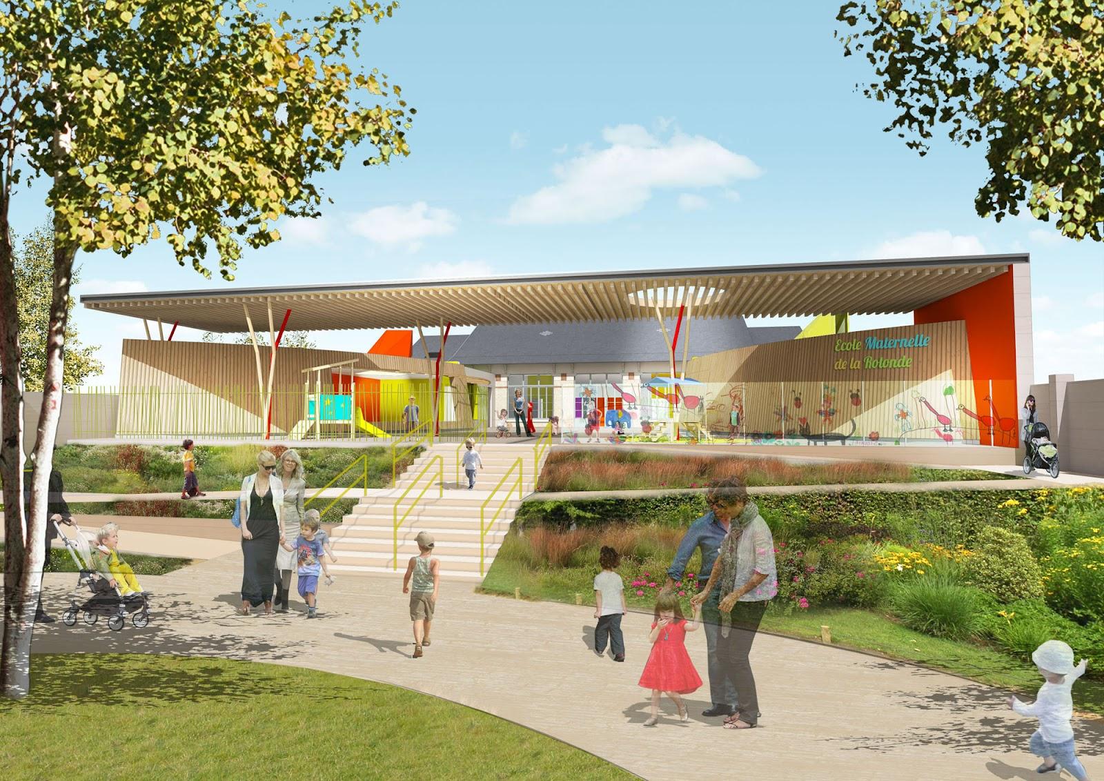 Concours ecole maternelle de la rotonde abw warnant for Architecture concours