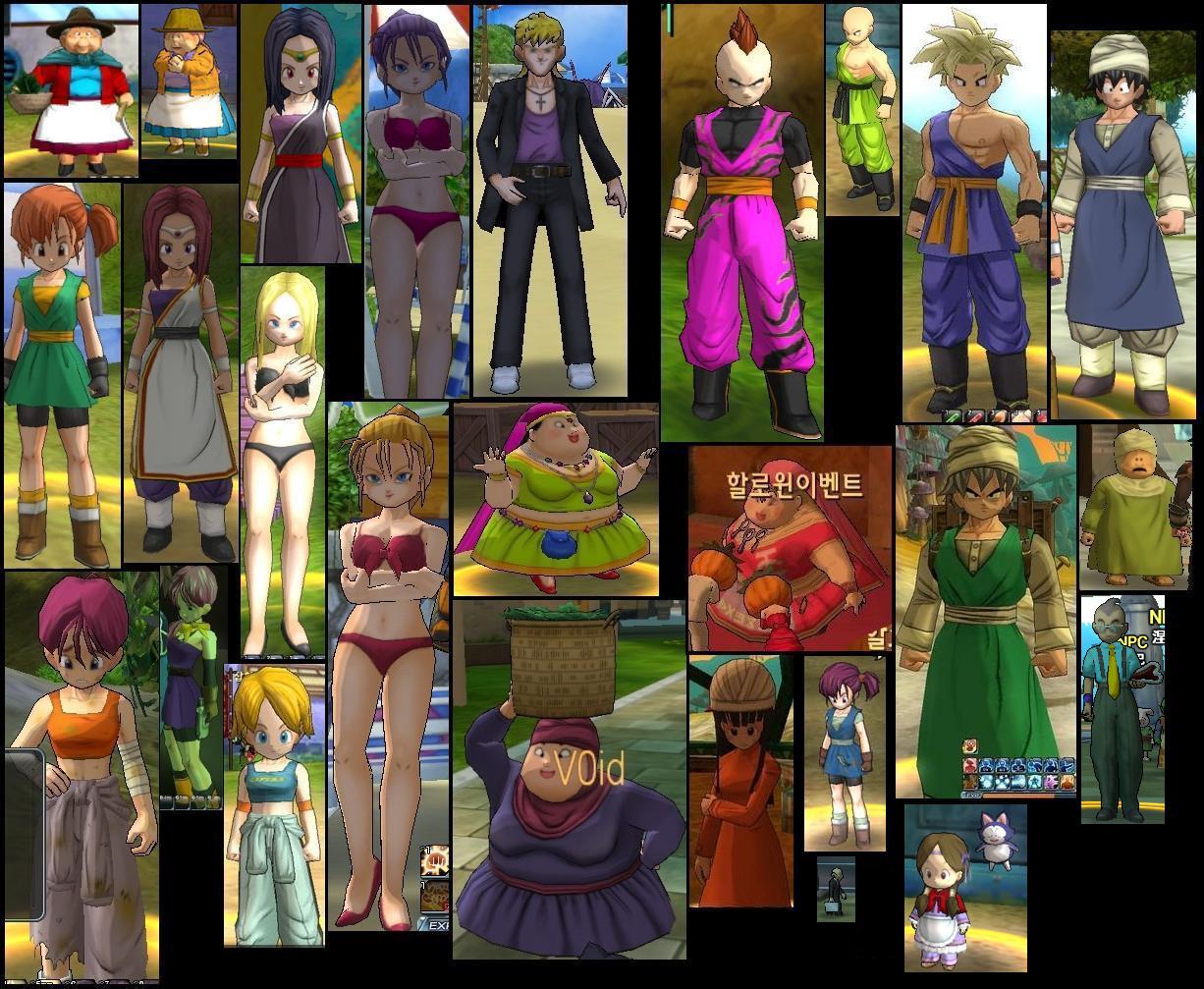 Dragon Ball Online Personajes Enemigos Y Algunos Trajes
