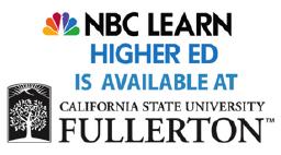 logo of NBC, logo of CSUF