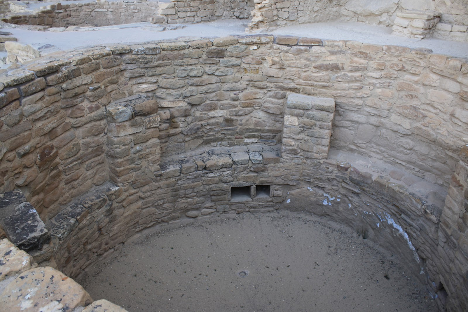 kiva, with a fresh air vent (rectangular) built into the wall. The air  title=
