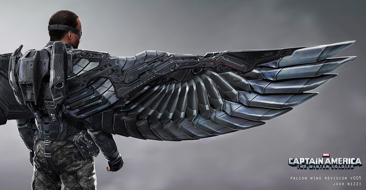 Fashion And Action: Falcon Costume/Wing Concept Art By
