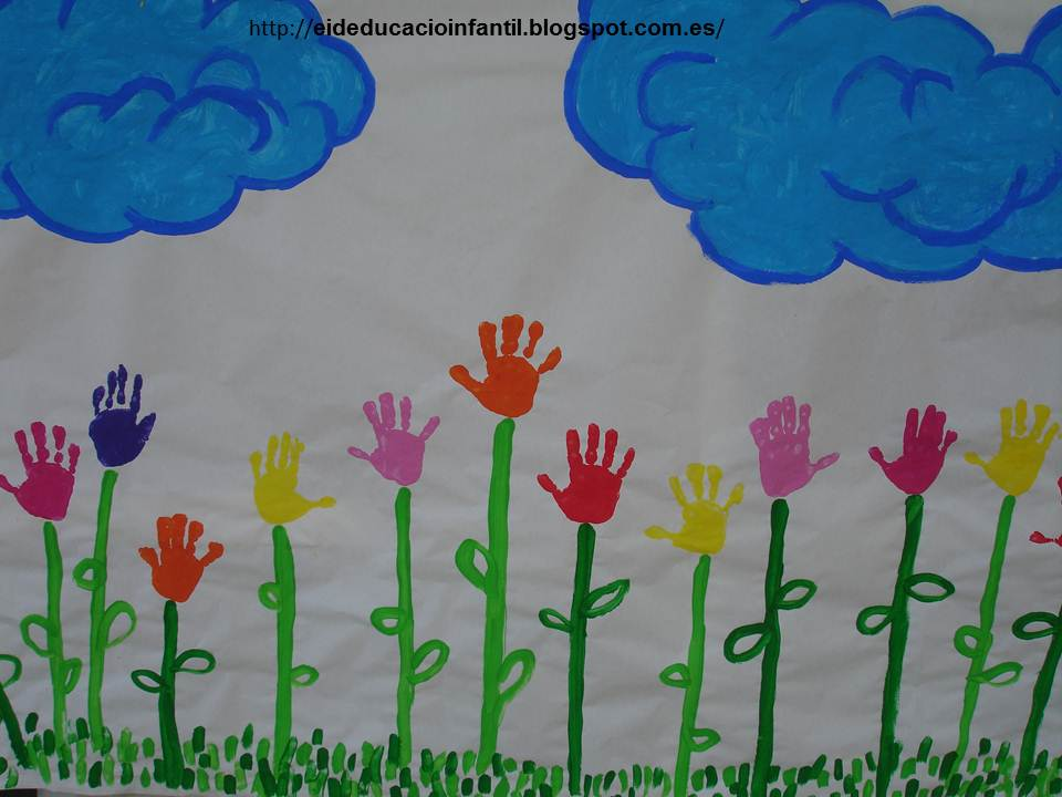 Educaci infantil mural de primavera - Murales pintados en la pared ...
