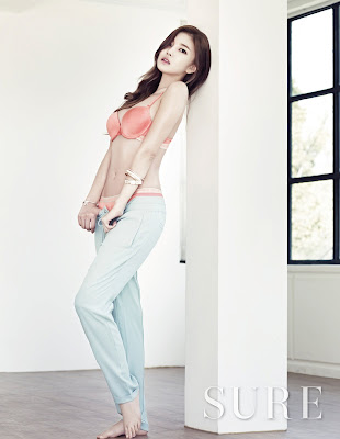 NS Yoon G Sexy in Lingerie and Underwear Sure Magazine June 2013