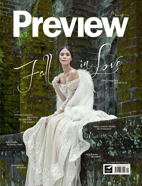 Heart Evangelista on Preview cover,  October 2014 issue