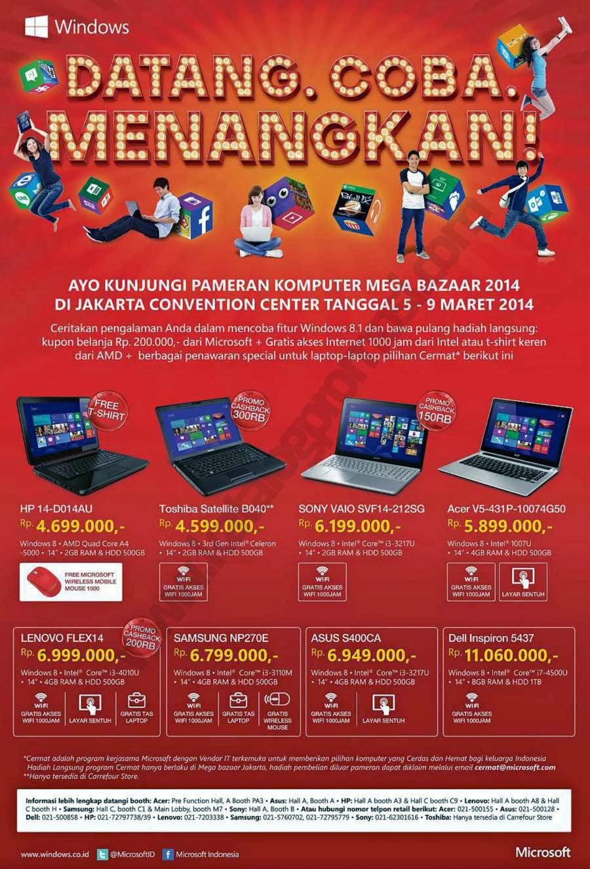 Promo Microsoft di Mega Bazaar Consumer Show 2014