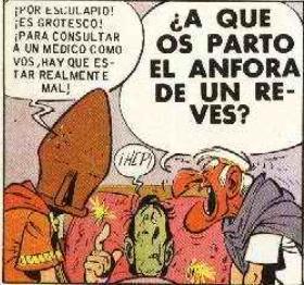 viñeta Asterix en Helvecia, descusión de médicos 2