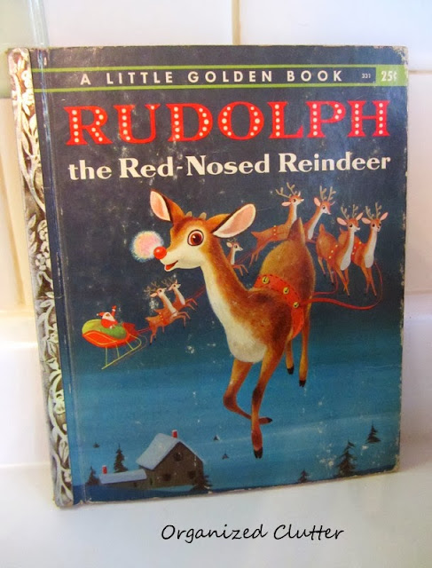 1958 Rudolph the Red Nosed Reindeer Golden Book www.organizedclutterqueen.blogspot.com