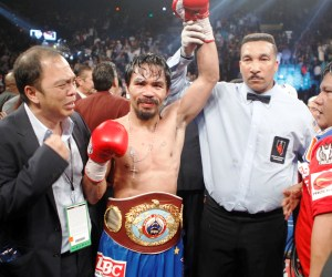 BOXEO-Pacquiao sigue imbatible