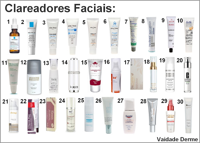 anti manchas e clareadores para face