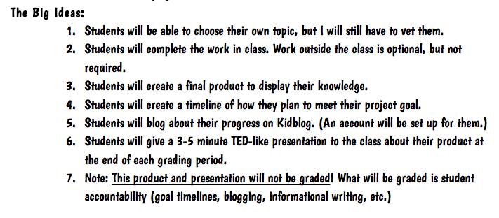 Each One Teach One: Genius Hour Introduction