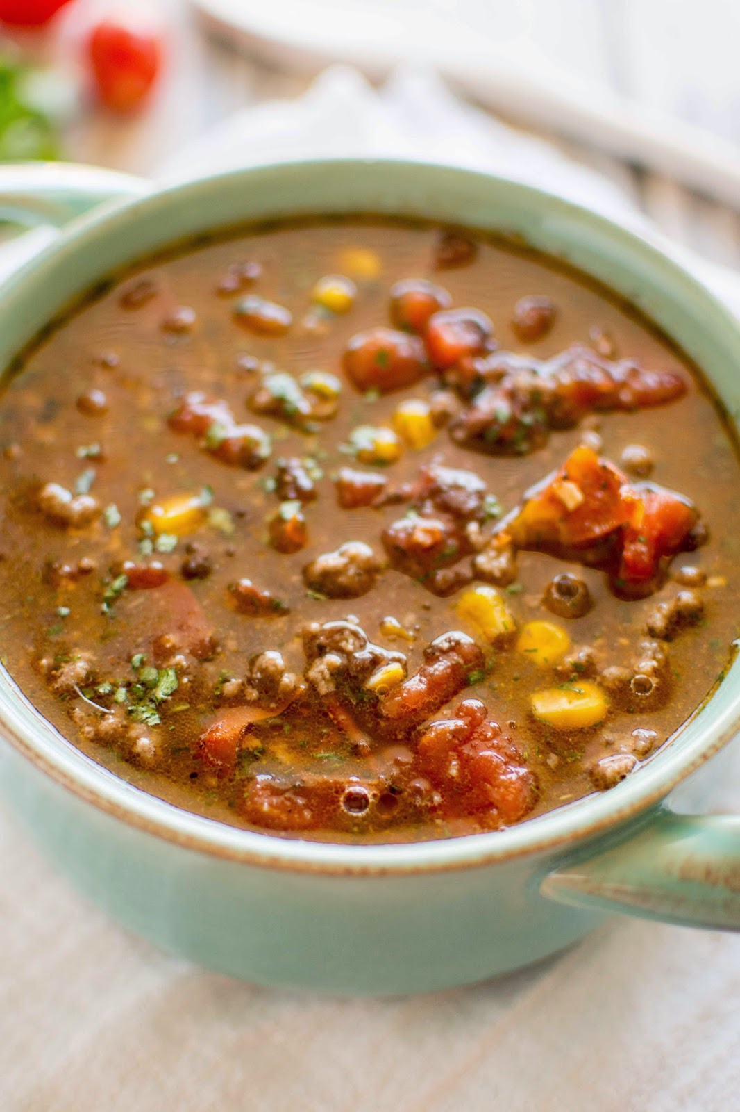 Crockpot Taco Soup from Crockpot Gourmet found on SlowCookerFromScratch.com