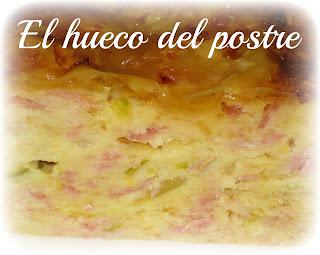 Pastel De Calabacín, Jamón York Y Queso
