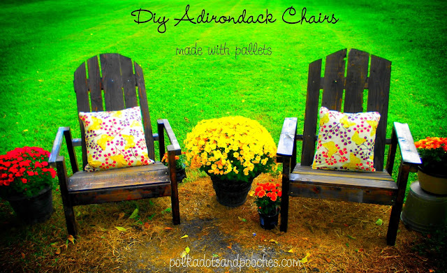 adirondack chairs with fall decorations