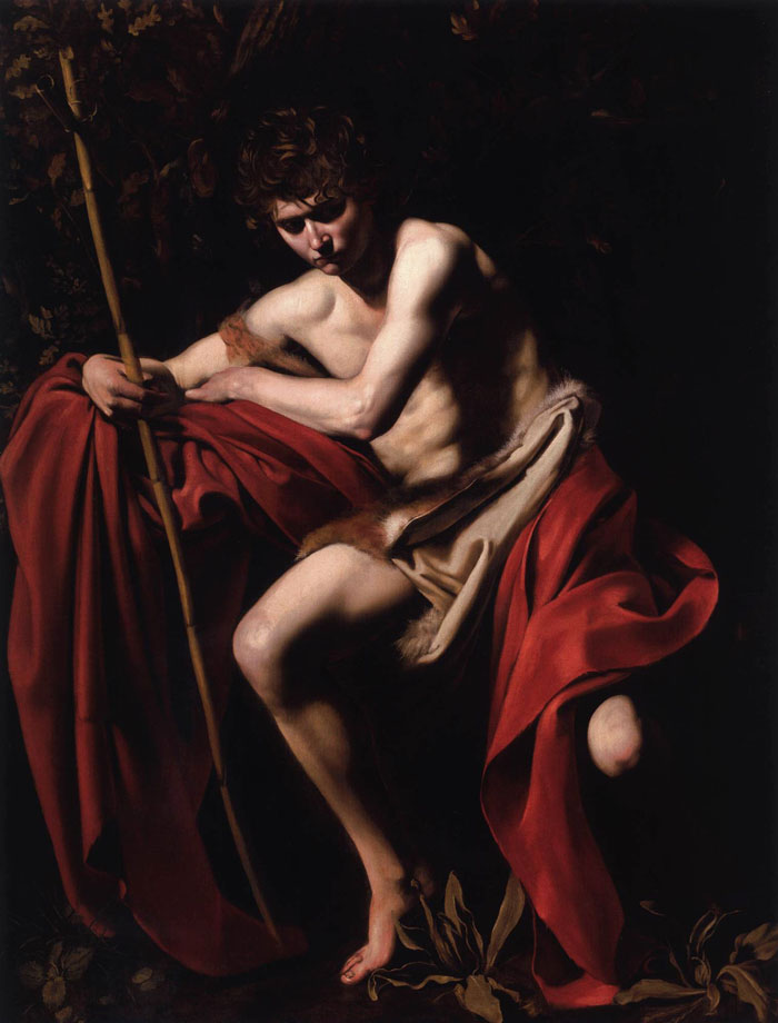 São João Batista por Caravaggio.