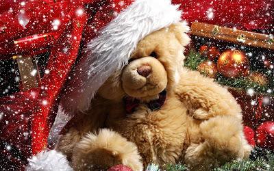Papel de Parede Natal Ursinho Fofinho para pc christmas teddy bear wallpaper picture