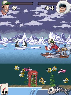Screenshots of the Dynamite Fishing 2 for java mobile, phone.