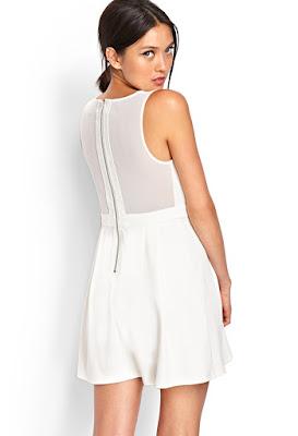 Mesh-Back Skater Dress at forever21.com