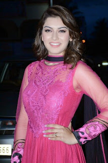 Hansika Motwani Wears a Beautiful Pink Colored Floor Lenght Anarkali Suit from ethnicpoint.com at Aranamanai Audio Launch