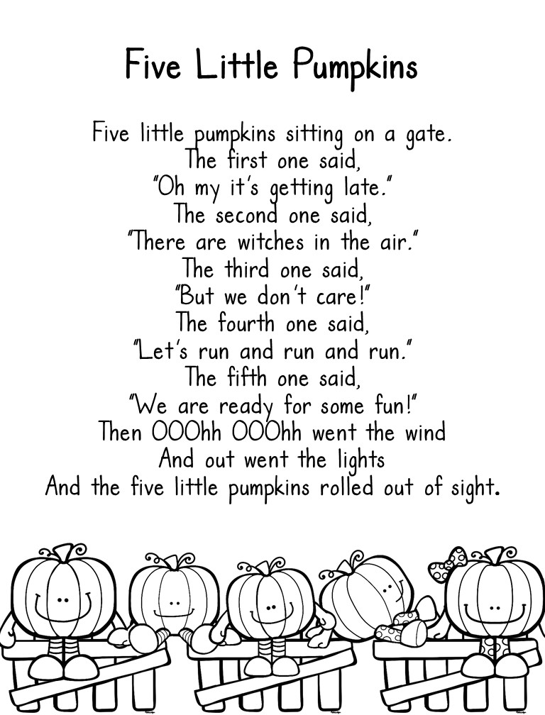 Five little pumpkins freebie virginia is for teachers for Five little pumpkins sitting on a gate coloring page