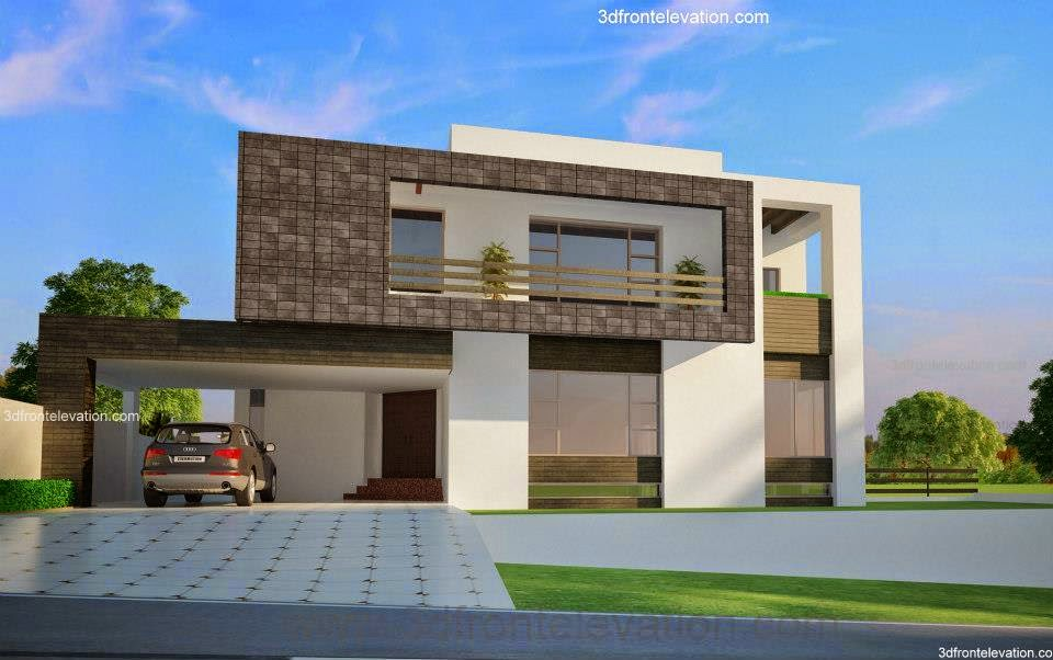 2 Kanal Corner  Plot @ Beautiful Modern House Design in Rawalpindi, Pakistan