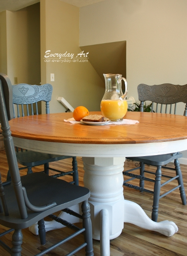 Everyday art painted kitchen table for Painted kitchen table ideas