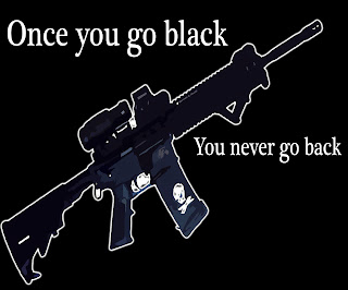 Once you go black you never go back gun shirt