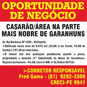OPORTUNIDADE DE NEGÓCIO EM GARANHUNS.