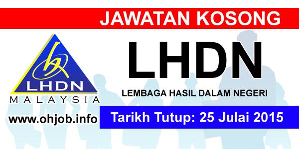 Jawatan Kerja Kosong LHDN logo www.ohjob.info julai 2015
