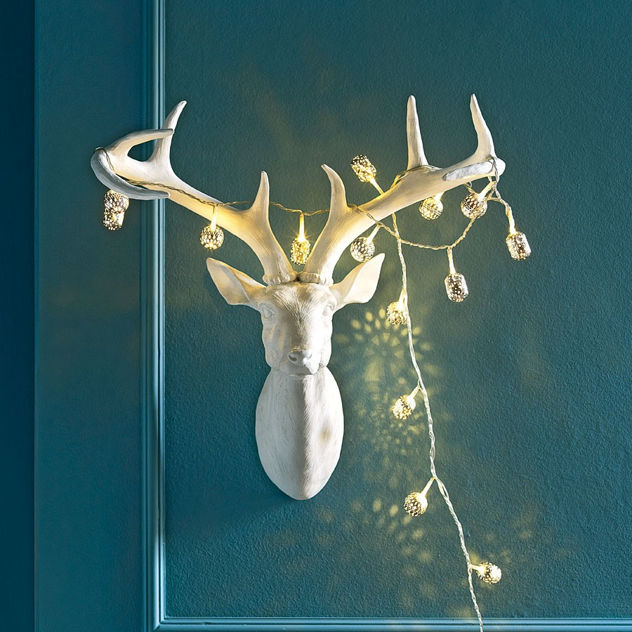 Let 39 s stay decorative faux animal heads for your home - Decorative stags head ...