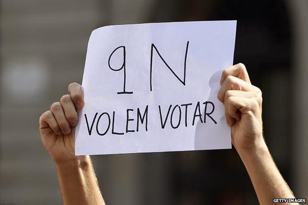 Els catalans voten el 9N