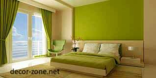 master bedroom wall paint colors, green bedroom curtains