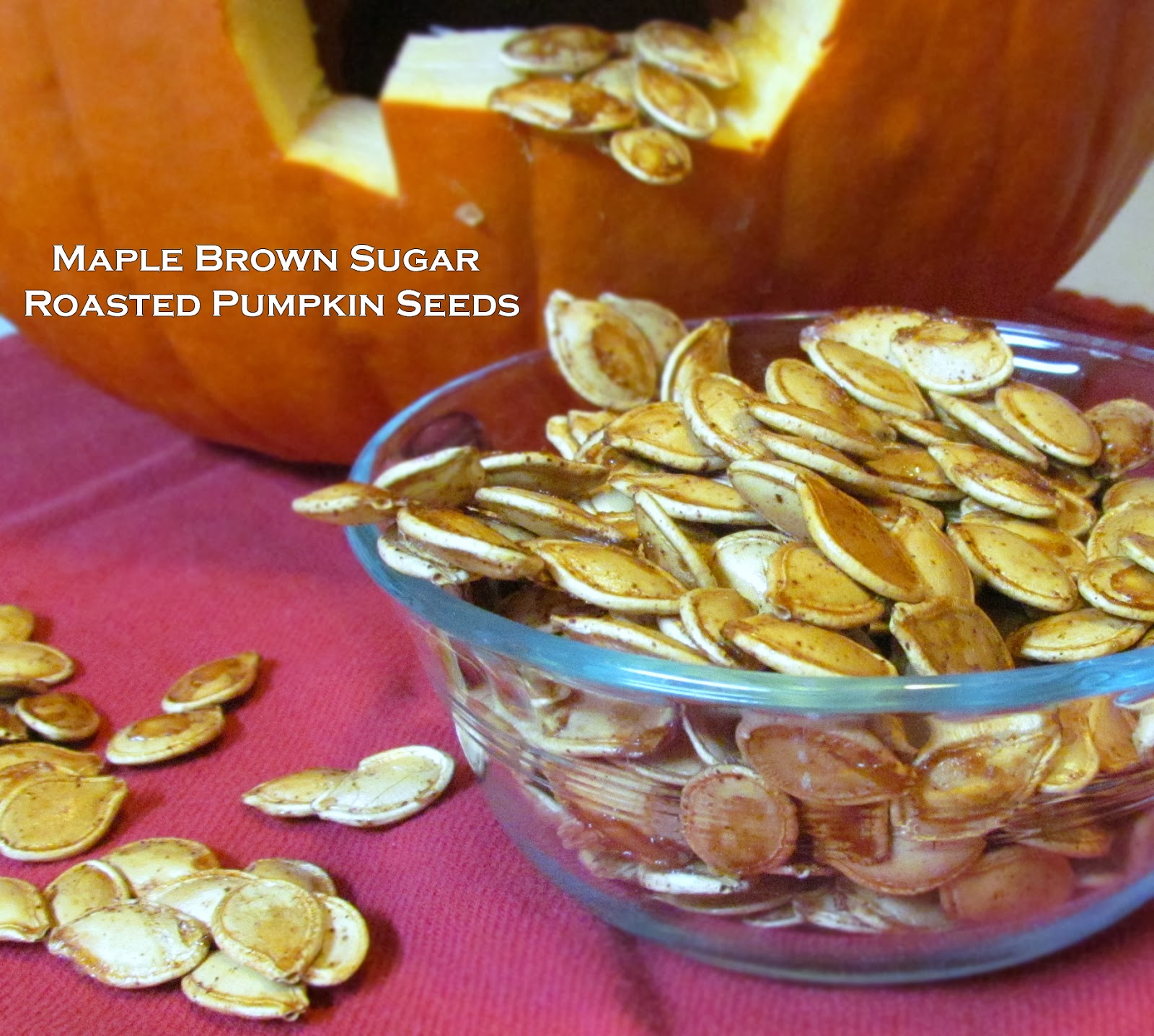 Getting stuffed maple brown sugar roasted pumpkin seeds