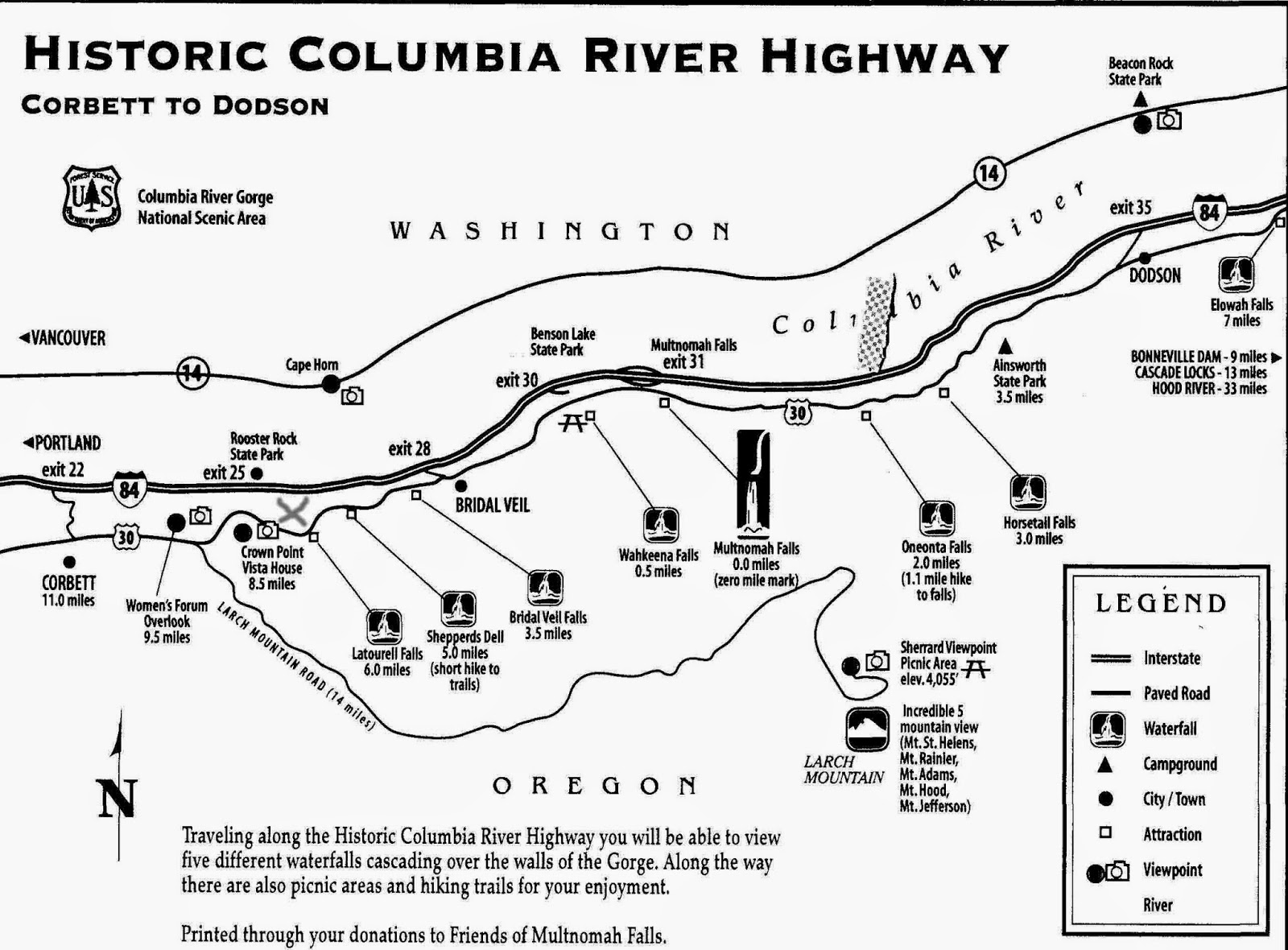 MostlyTempleton: Hikes on The Historic Columbia River Highway on