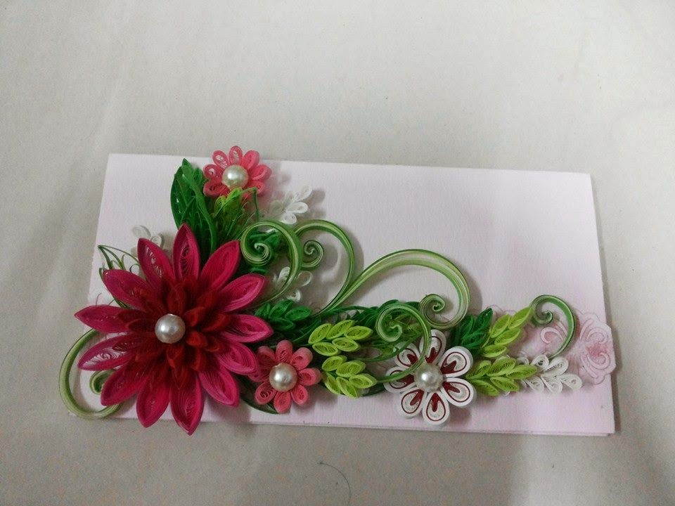Advanced quilling designs for envelopes for Best quilling designs