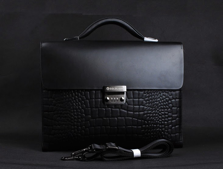 mens crocodile briefcase