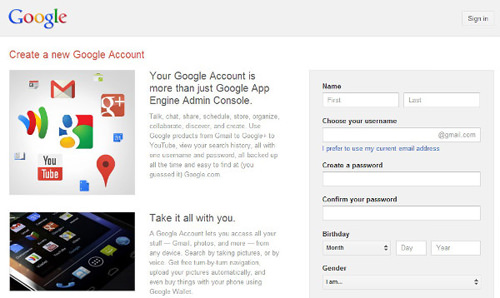 Sign up for Google App Engine