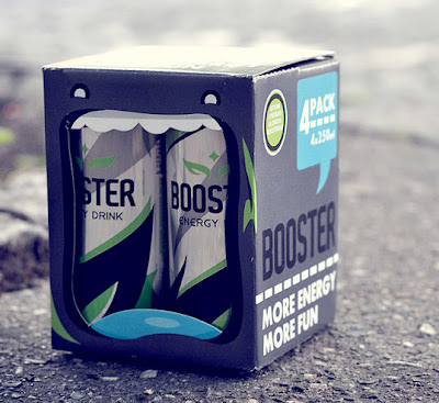 lovely package booster energy drink2 Clever energy drink packaging